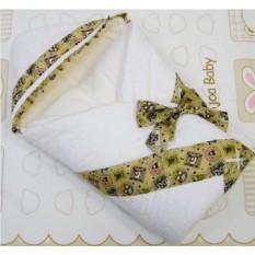 Одеяло-конверт из сатина на выписку Сундучок