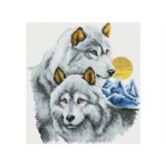 Набор для вышивки стразами «Нежность волков»