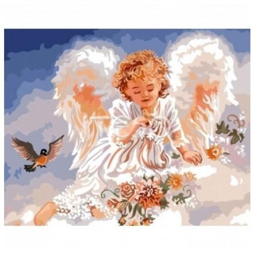 Картина-раскраска по номерам на холсте Ангел