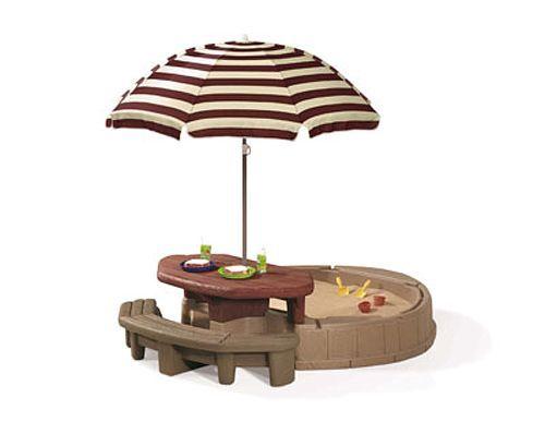 Песочница с зонтом STEP