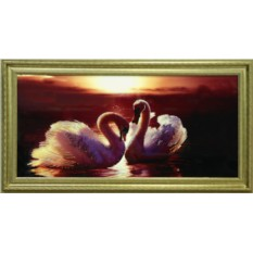Картина с кристаллами Swarovski Багряный закат