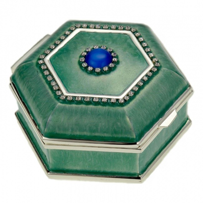 Многоугольная зеленая шкатулка