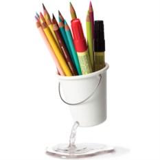 Белый органайзер для рабочего стола Desk Bucket