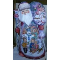 Игрушка Дед Мороз из дерева