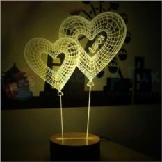 3D лампа Яркая парочка