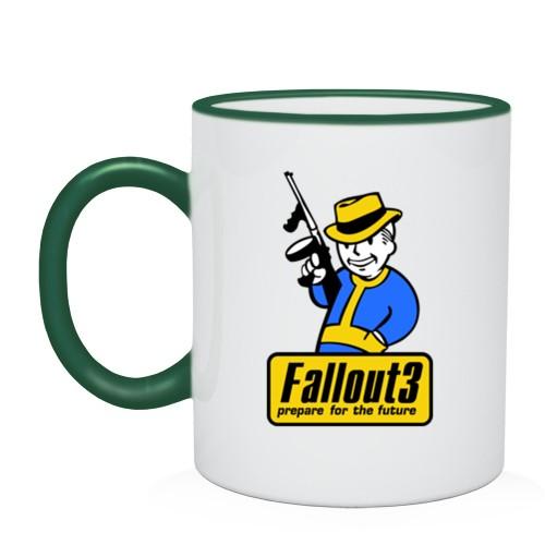 Кружка с кантом Fallout Man