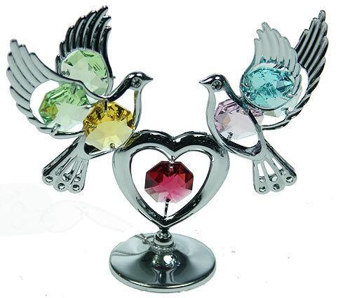 Фигурка Swarovski Голуби с сердцем