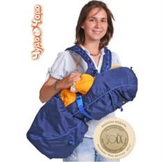 Синий рюкзак-кенгуру BabyActive Lux