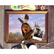 Портрет по фото Вождь краснокожих