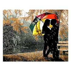 Картина по номерам «Под разноцветным зонтом»
