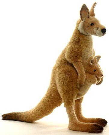 Мягкая игрушка Большой рыжий кенгуру от Hansa