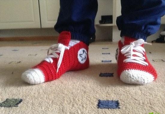 Вязанные носки Кеды