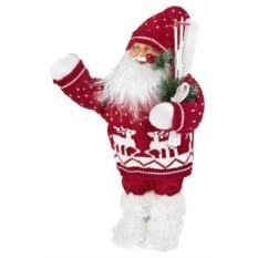 Новогоднее украшение Дед Мороз с лыжами