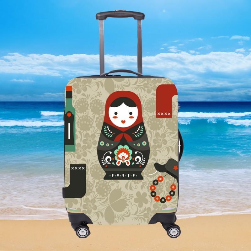 Чехол для чемодана CITY - Russia с поисковой меткой