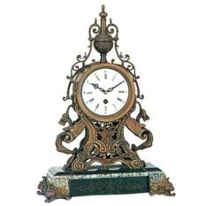 Медные настольные часы на подставке из мрамора