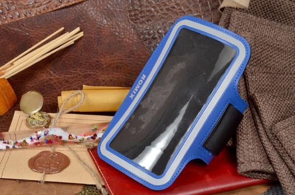 Синий спортивный чехол на руку для iPhone 6S/6
