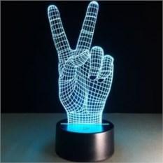 Настольная 3D-лампа Пальцы