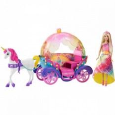 Радужная карета и кукла Barbie