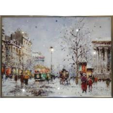 Картина с кристаллами Сваровски Зимний вечер