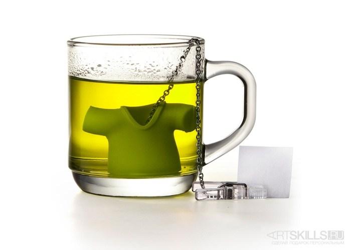 Зеленая заварочная ёмкость для чая Tea Shirt