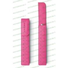Розовый кожаный футляр для одной ручки Cross