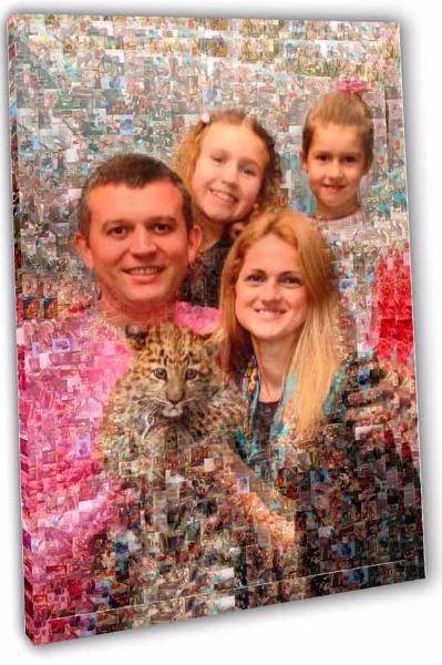 Фотомозаика из фотографий для семьи