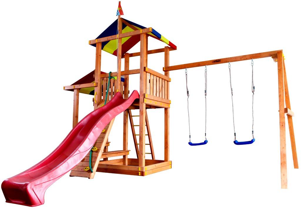 Детская игровая площадка для улицы из дерева Городок Кирибати