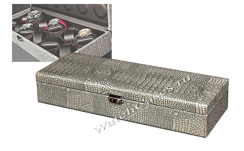 Шкатулка для хранения 12-ти часов (кожа под крокодила)
