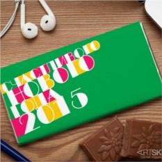 Шоколадная открытка  Счастливого нового года 2014