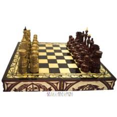 Резные шахматы Русь Великая (50х25 см классические фигуры)