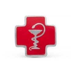 Серебряный медицинский значок
