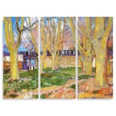 Модульная картина Ван Гог. Улица рядом со станцией Арли