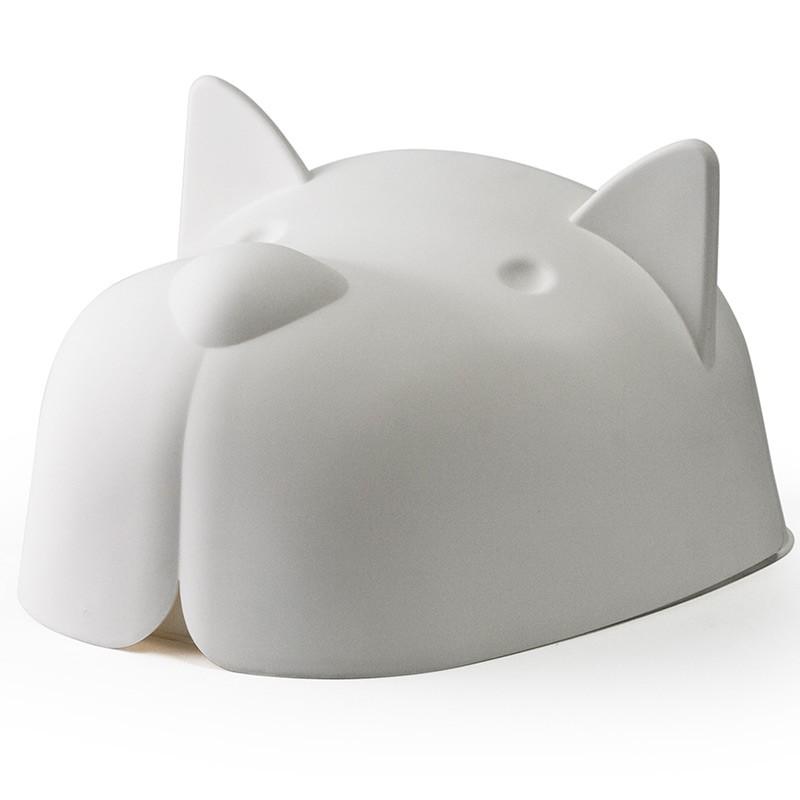Белая миска для собаки с крышкой Mr.Dog