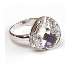 Кольцо с кристаллами Сваровски Элизабет