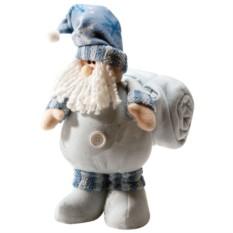 Новогодний подарок Дед Мороз с синим пледом