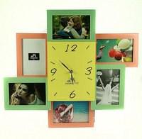 Часы-фоторамка на 7 фото