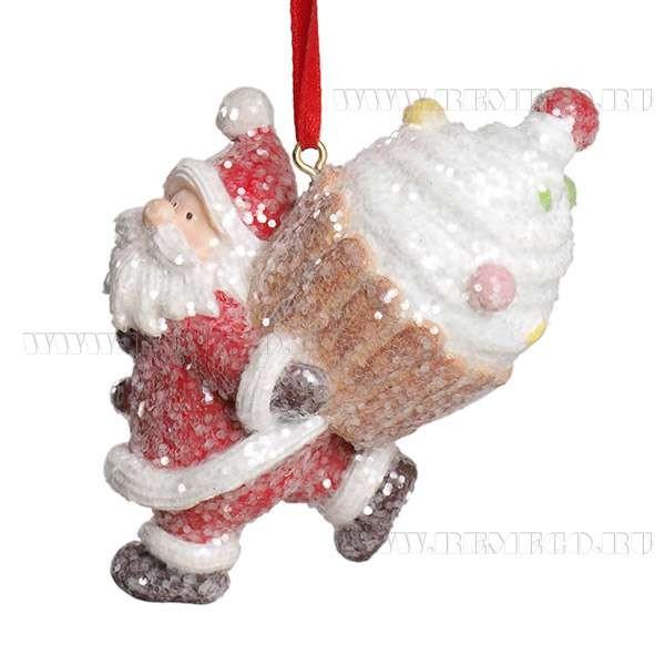 Новогоднее украшение Дед Мороз с подарком