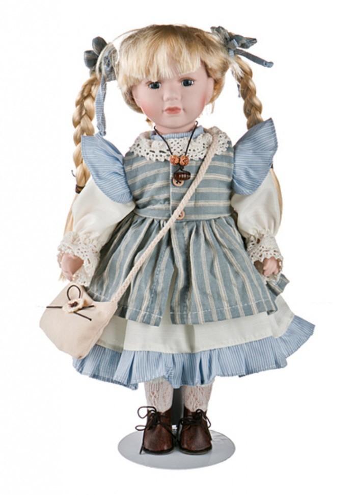 Фарфоровая кукла Reinart Faelens с сумочкой через плечо