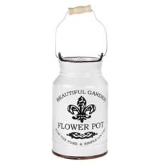 Белая керамическая ваза для цветов Лилия