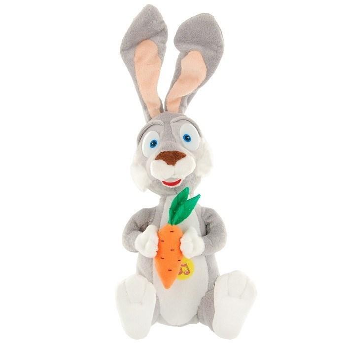 Мягкая игрушка Заяц с морковкой из м/ф Маша и Медведь, 35 см, озвученный