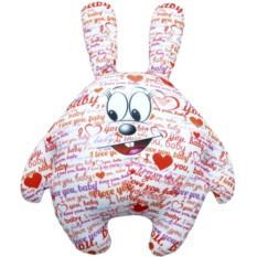 Подушка-игрушка Зайчик I LOVE YOU