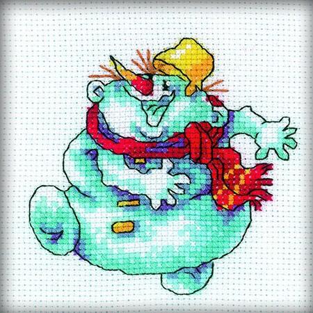 Набор для вышивания Снеговик-2