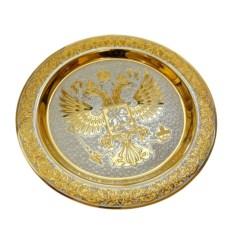 Большая сувенирная тарелка Герб РФ