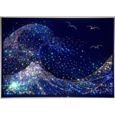 Картина с кристаллами Swarovski Волна