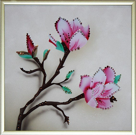 Картина с кристаллами Swarovski Японская вишня