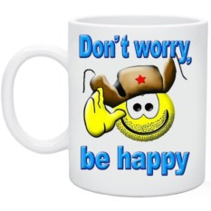 Кружка Dont worry be happy