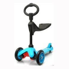 Детский трехколесный самокат Scooter 506 (цвет — голубой)