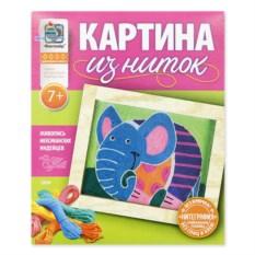 Набор для творчества Картина из ниток «Слон»