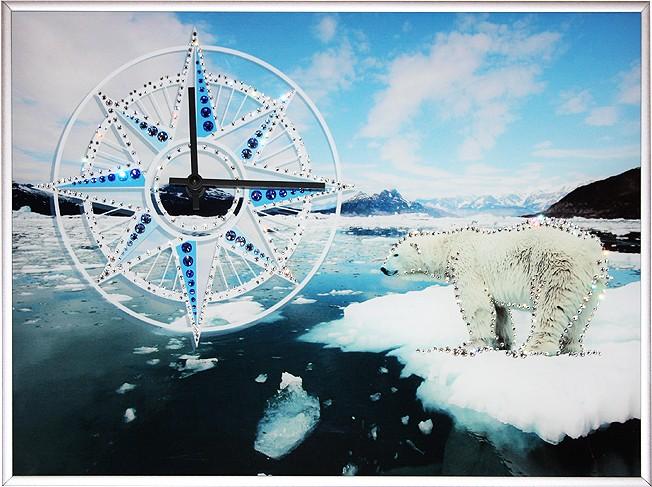 Часы с кристаллами Swarovski На Северном полюсе