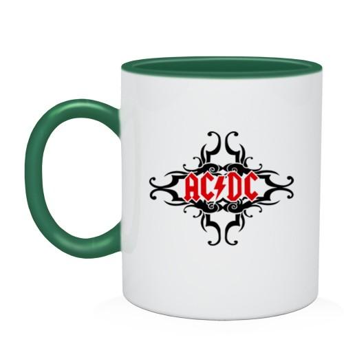 Двухцветная кружка AC/DC